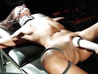 BDSM Slut Screaming From Whips Wax And Big Dildo