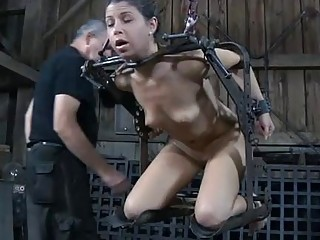 Serf Gets Ass Whipping Before Pussy Torturing
