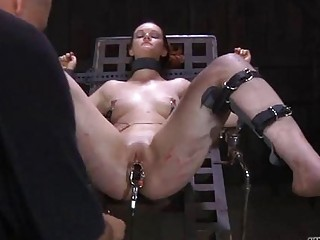 Clamped Up Hottie Is Receiving Lusty Facial Agony