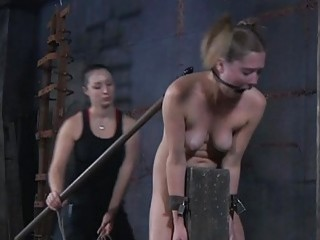 Restrained Serf Gets Torture For Her Wicked Twat