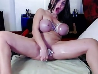My Self Punishment With Clamps And Tied Boobs