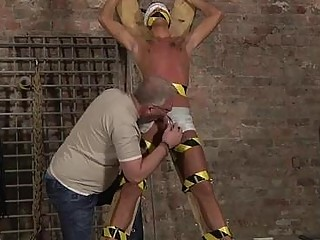 Hot Gay Slave Boy Made To Squirt