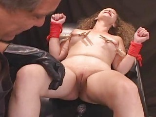 Pain Slut Nipple Clip And Shock Fuck!