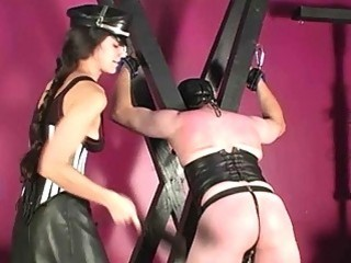 Submissive Slave Spanked With Paddle