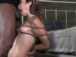 Bound Petite BBC Brutal Deepthroat And Anal!